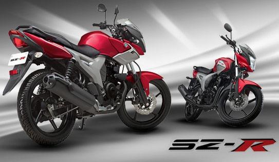 Yamaha apresentou sua nova pequena de 150 cilindradas, a SZ-R
