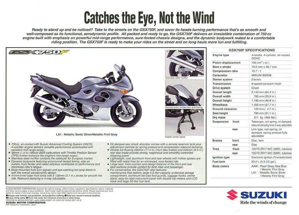 Histria suzuki gsx750f motociclismobr 2005gsx750fsalesnz21114 fandeluxe Gallery